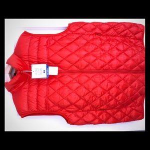 Uniqlo Ultra Light Down Vest in orange- XL